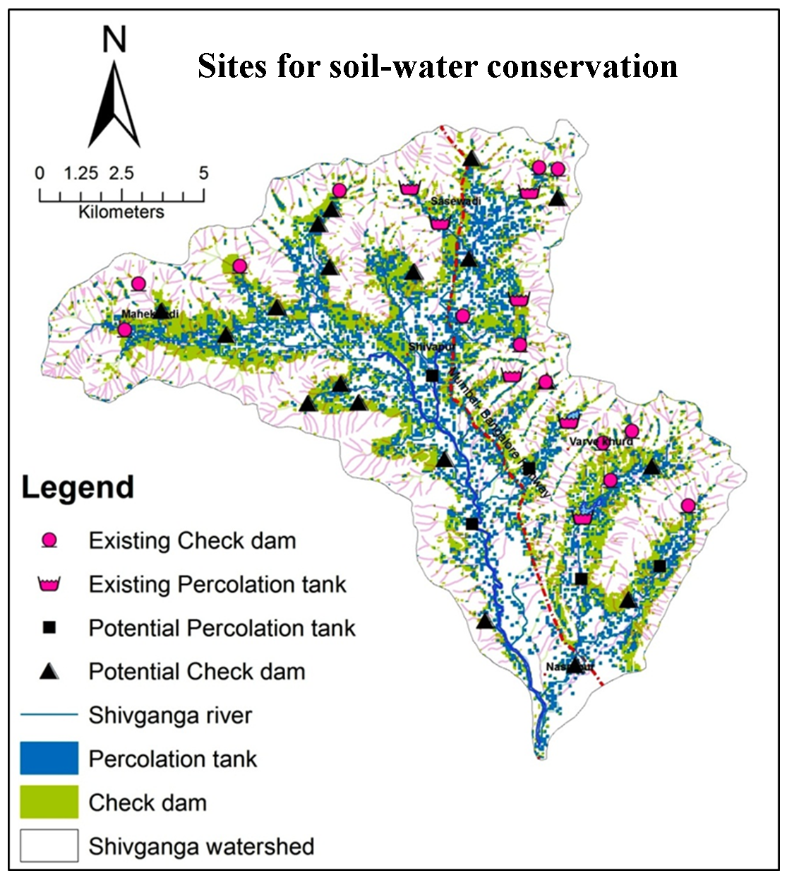 Identifying Possible Locations to Construct Soil-Water Conservation Structures by Using Hydro-geological and Geospatial Analysis