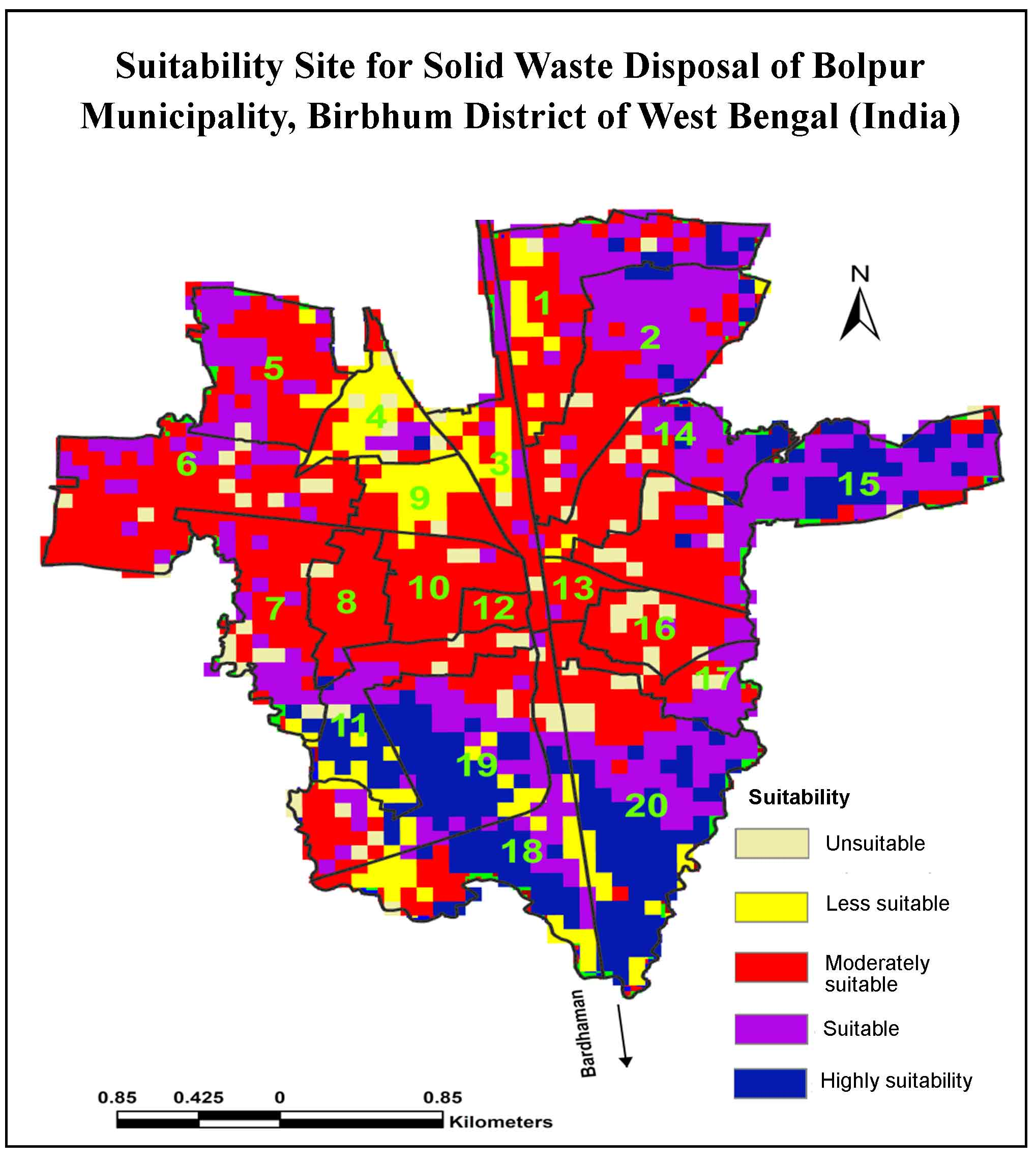 Site Suitability Analysis for Solid Waste Disposal of Bolpur Municipality, Birbhum District of West Bengal (India): Remote Sensing and AHP Approach